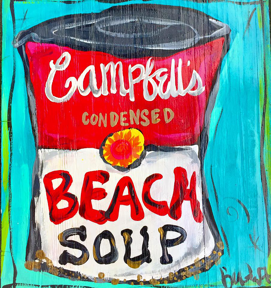 BILLIE GAFFREY — Beach Soup, 12x12