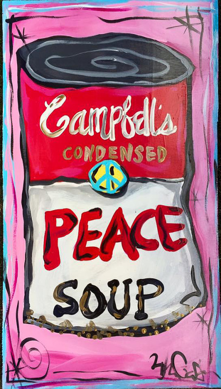 BILLIE GAFFREY — Peace Soup, 10x36