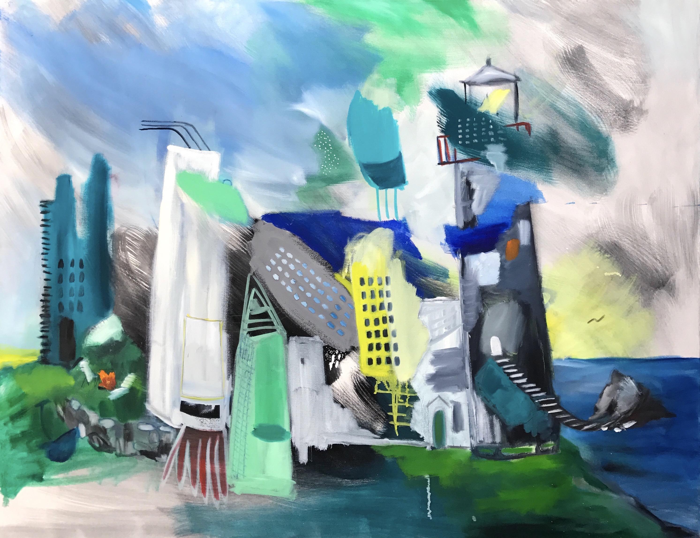 $2815 36 x 46 Oil, Pencil on Canvas