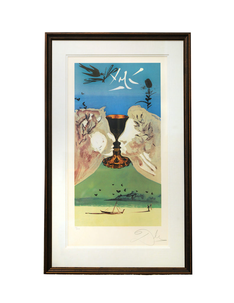 King of Cups Lithograph by Salvador Dali