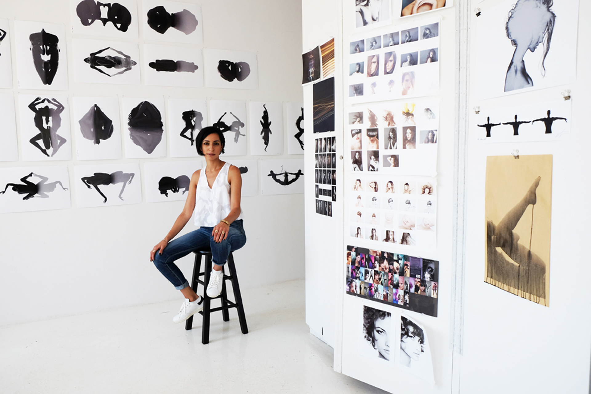 Photographer Aranka Israni in her studio located in Soho, NYC
