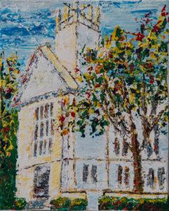 """Seaside Chapel"" by Stacia Nicole 16"" x 20"" Acrylic on Canvas $500"